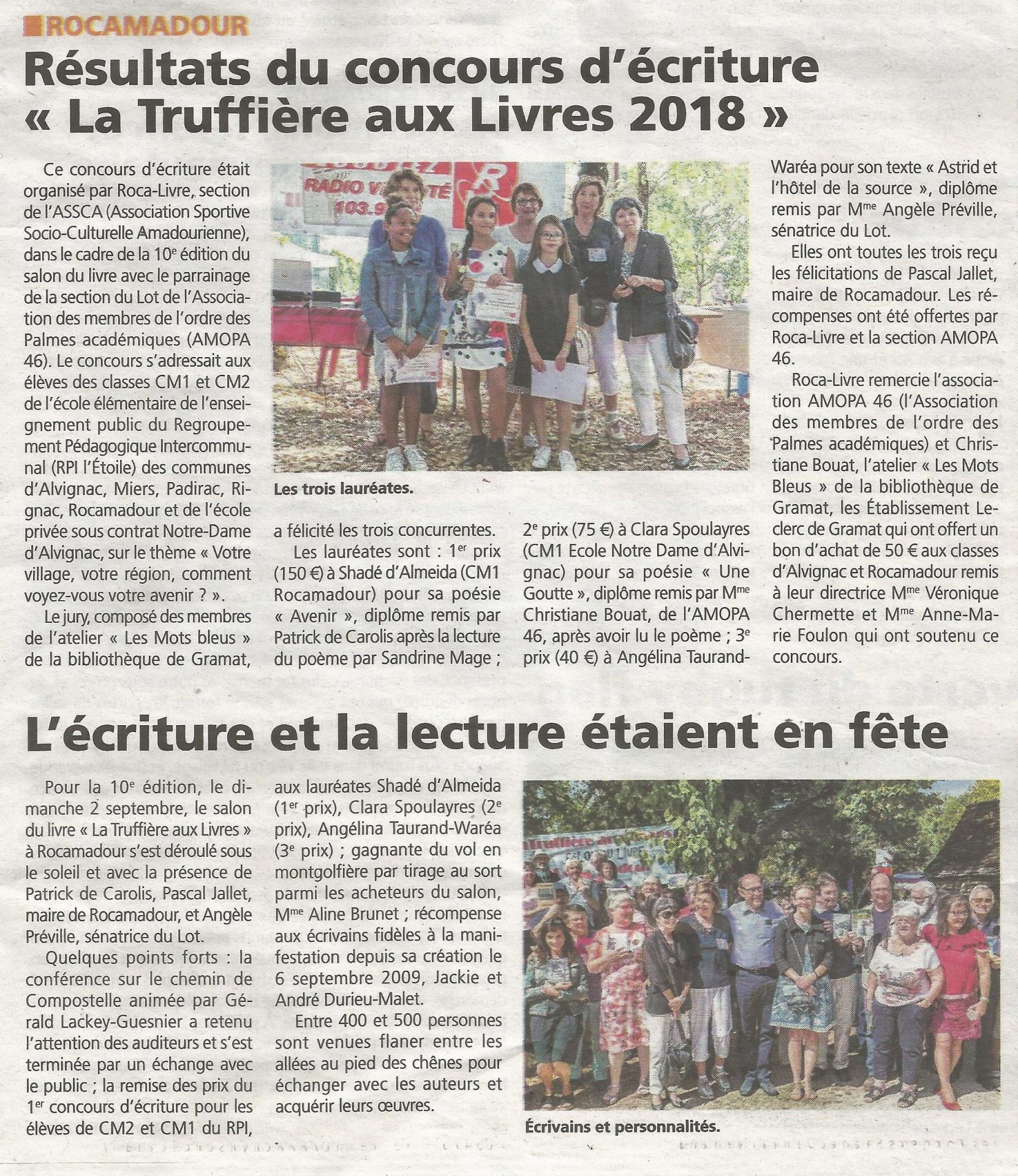 2018 09 13 salon du livre la vie quercynoise