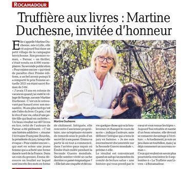 Article la depeche du 22 08 21 maerine duchesne
