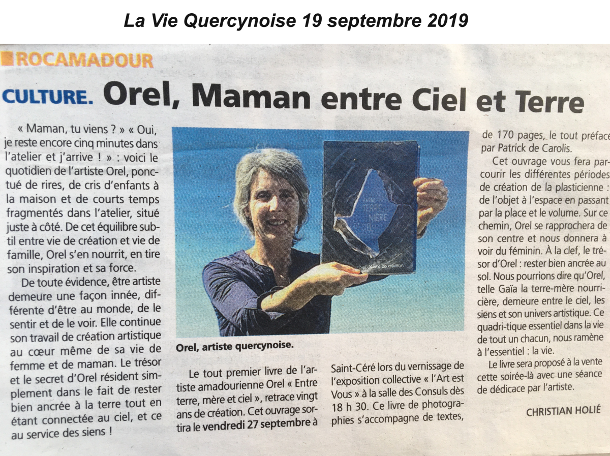 Article la vie quercynoise 19 09 2019