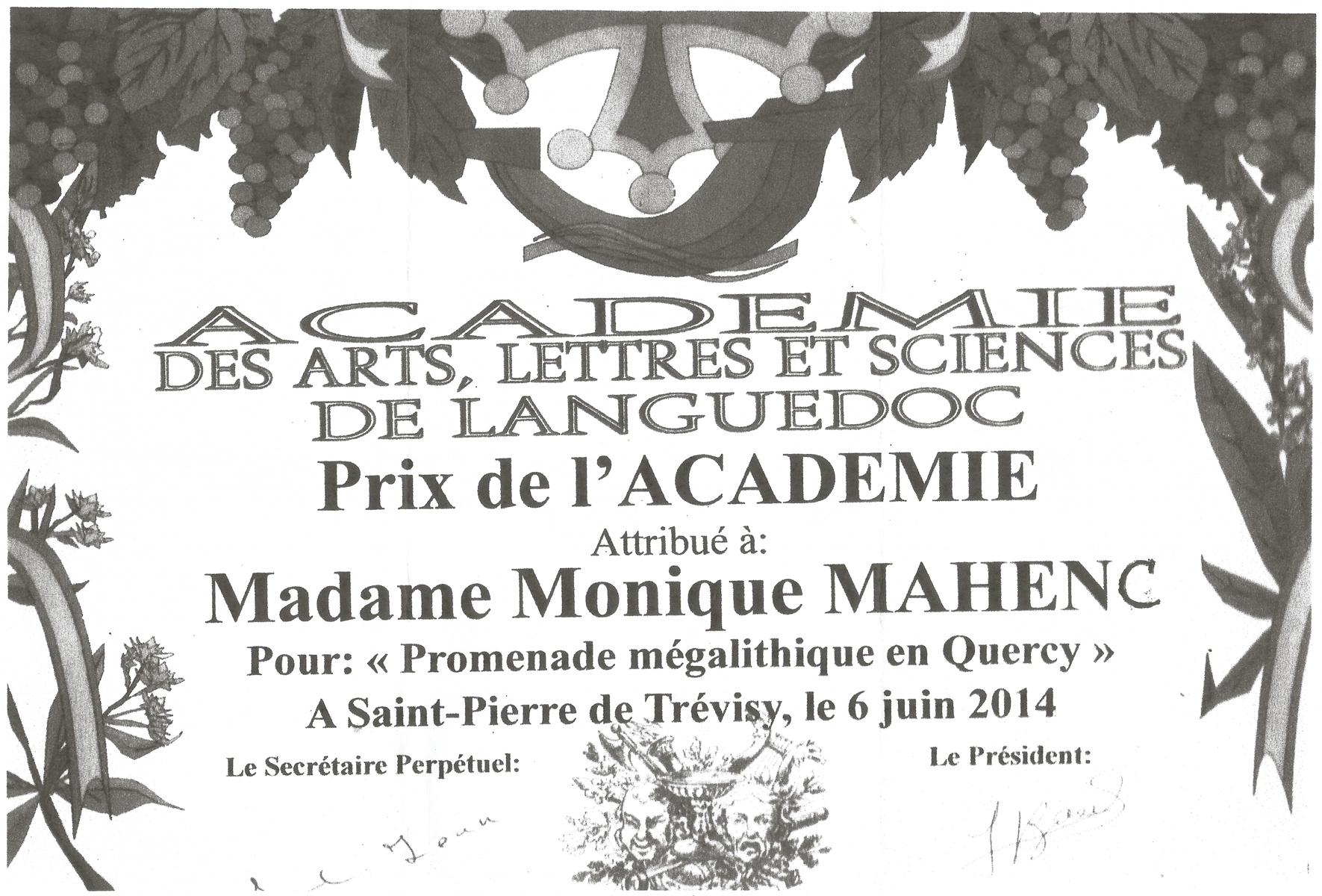 Prix de l academie